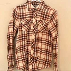 Nordstrom Rubbish Fitted Flannel Top
